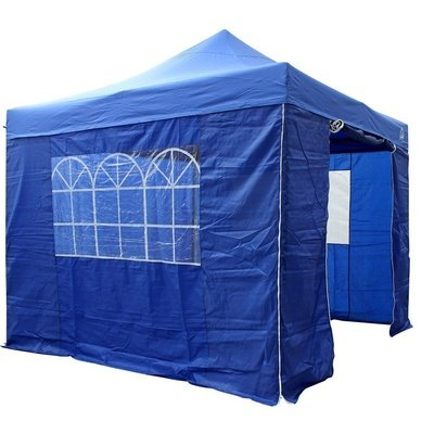All Seasons Gazebos 3M x 3M Waterproof Gazebo Party Tent with Rustproof Frame and Wheeled Carry Bag