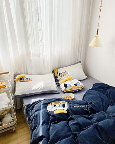 funda nordica cama 150,Otoño e invierno dibujos animados de doble cara terciopelo de leche cálido doble engrosamiento funda nórdica para niños estudiante dormir color sábana funda de almohada regalo-