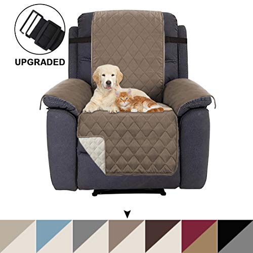 BellaHills Rutschfester Sofa-Verdeckbezug verstellbares Polsterbezug, Baumwollmaterial, Zwei 5 cm...