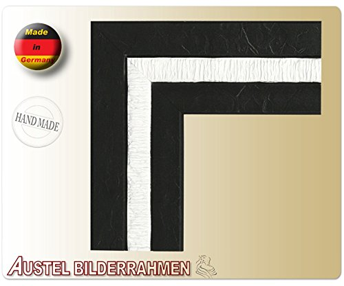 Austel-70 Holz Bilderrahmen 20x30 30x45 40x60 Braun Rot Weiß mit Antireflexglas: Farbe: Weiß | Format: 30x45
