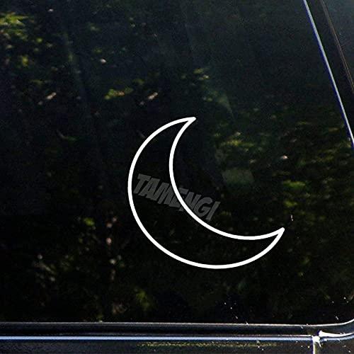 Calcomanía de astrología con diseño de luna media lunar para coche, diseño de vinilo de 12 pulgadas
