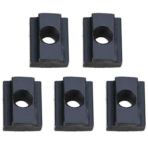 YAYANG Nut 5pcs M6 / 8/10/12 Threads T-Nuten T Nutensteine 45 Stahl-Oxid-Finish in den Werkzeugmaschinentische Durable in use. (Size : M6)