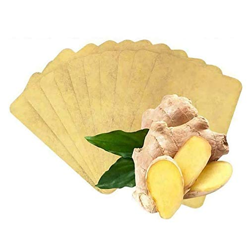 50Pcs Lymphatic Detox Healing Ginger Patch Fever Stickers Herbal Ginger Warm Patch Pain Relief Pads for Neck,Abdomen,Face,Knees,Feet,Back,Shoulders,Waist