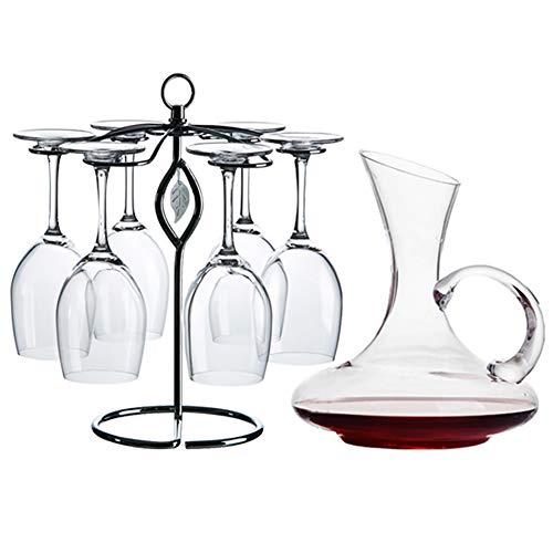 Z·Bling Decantador de Vino con Copas incluídas (6 Copas de Cristal) Jarra conservadora de Vino Tinto - Regalo Ideal enotecas - Accesorio para Regalar a los Amantes del Vino