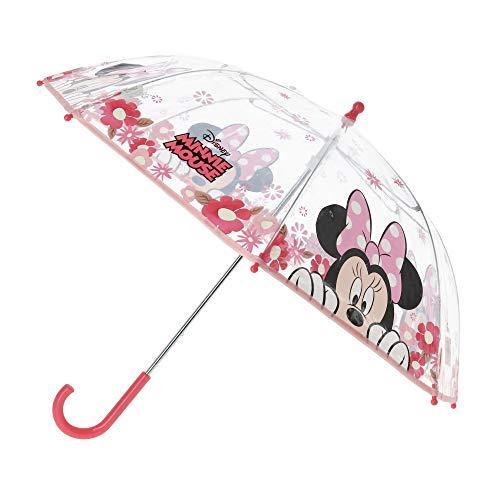 Minnie Maus Stockschirm Minnie | in pink & transparent Kinder Regenschirm