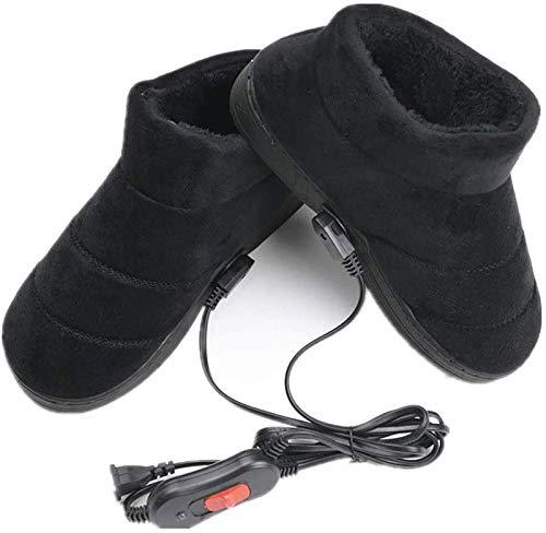 LONG-M Zapatos Calentador De Pies para Invierno, Zapatos De Calefacción Eléctrica Suave...