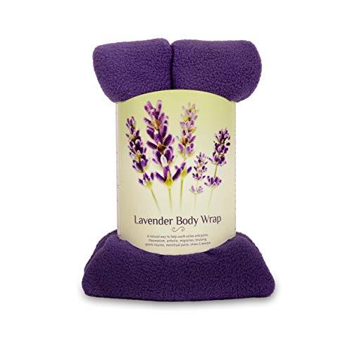 Zhu-Zhu Lavendel-Körnerkissen - Mikrowellengeeignetes Wärmekissen aus Weizenkörnern für Rücken und Nacken - Fleece Lila -Beruhigende Mikrowellen Wärmepackung