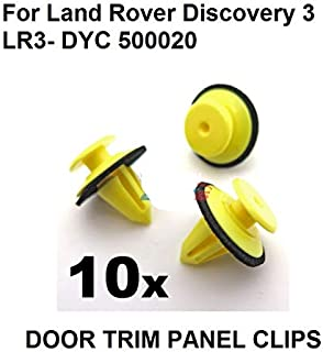 Fastener & Clip 10x for Land Rover Discovery 3 (LR3) Exterior Windscreen A-Pillar Trim Clips