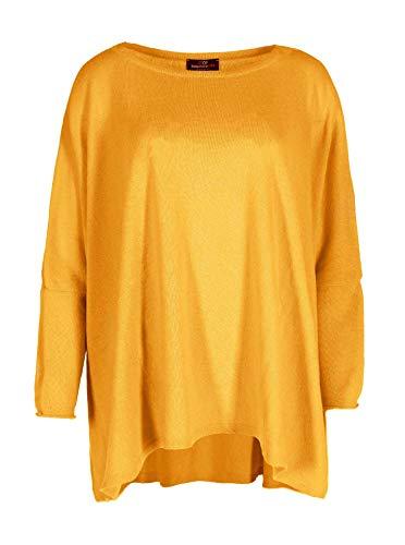Zwillingsherz Poncho mit Baumwolle - Hochwertiges Cape für Damen - XXL Umhängetuch und Tunika mit Ärmel - Strick-Pullover - Sweatshirt - Stola für Sommer und Winter von Cashmere Dreams glb