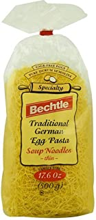 Bechtle Traditional German Cage Free Egg Pasta Soup Noodles Thin -- 17.6 oz (Pack of 2)