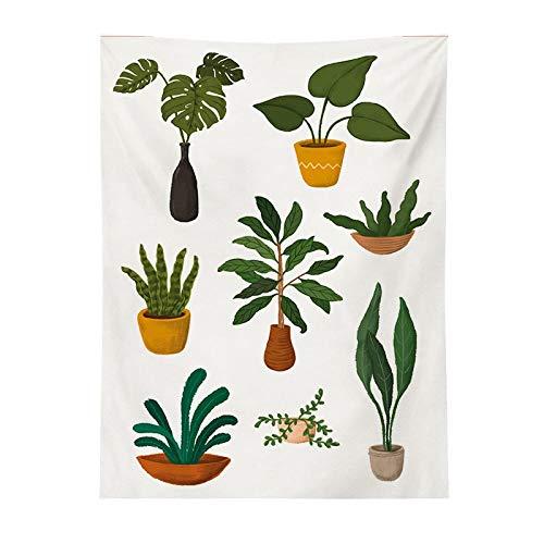 Chenhan Tapiz Arte nórdico Tapicería Flor Cactus Estética Sala de Estar Dormitorio Decoración Verde Planta Pared Colgando Tapiz Frente Decoración de Arte (Color : Style5, tamaño : 180X230CM)
