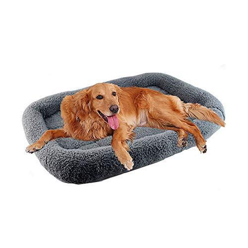 Wuudi - Cama para perros grandes para mascotas, cama para perros grandes, cojín para cama de perros, lavable con funda extraíble, relleno suave de algodón, sofá acolchado para perros