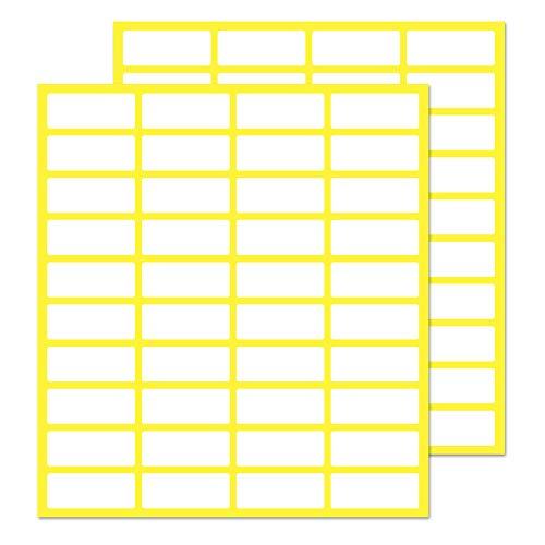 Pack de 1000, 20 x 8 mm - Etiquetas Adhesivas Blancas Pegatinas
