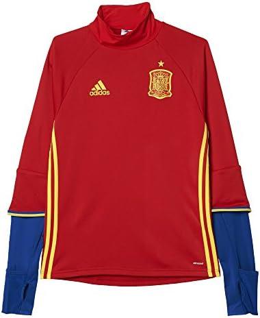 Adidas Camiseta de Entrenamiento Española de Fútbol Euro 2016 Manga Larga Rojo / Amarillo / Azul