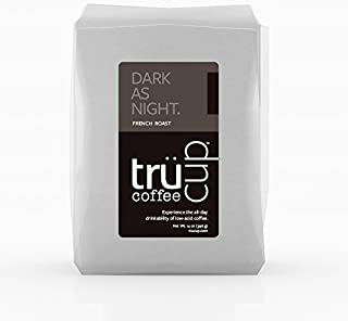 trücup Low Acid Coffee, Drip Grind, Dark as Night French Roast, 5 Pound