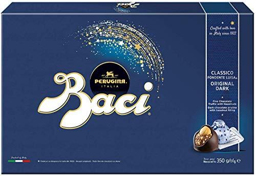 BACI PERUGINA Classico cioccolatini fondenti ripieni al gianduia e nocciola scatola regalo 350g