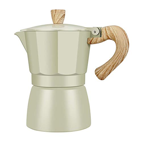 NEYOANN Mocha Cafetera Italiana Cafetera Espresso Percolador Olla Cocina Cafetera 150Ml