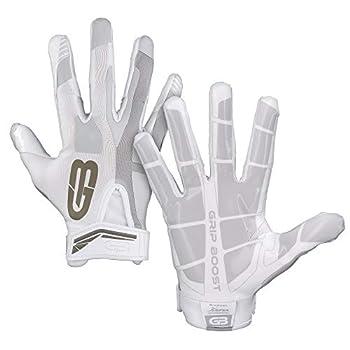 Grip Boost Stealth Football Gloves Pro Elite  White Youth Medium