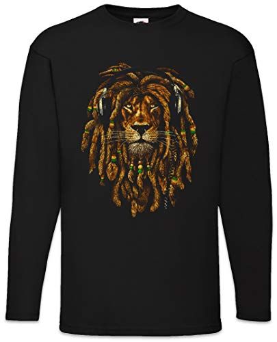Urban Backwoods Rastafari Lion IV Long Sleeve T-Shirt De Manga Larga Negro Talla L