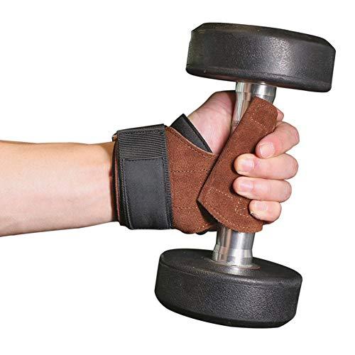 Wrist Wraps,2pcs Kunstleder Booster mit Kreuzheben Handschuhe Pull-up Reck rutschfeste Handgelenk Hilfsgurt Männer und Frauen Fitness-Armband