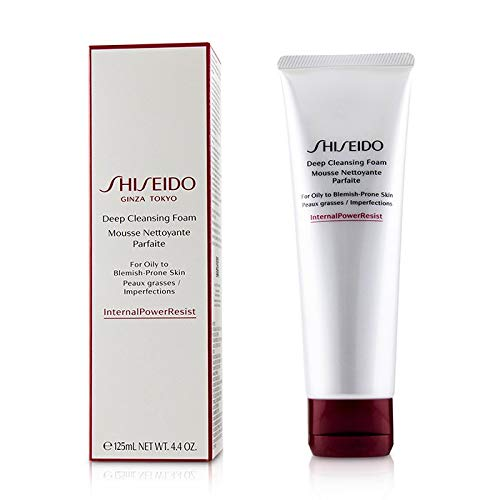 SHISEIDO Deep Cleansing Foam for Oily to Blemish-Prone Skin Full Size 125 mL / 4.4 OZ. Factory Sealed In Retail Box