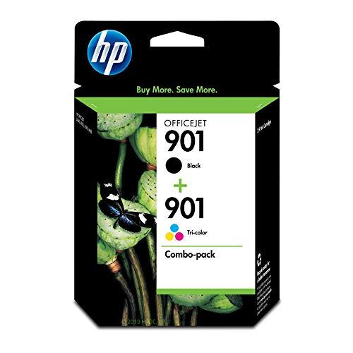 HP 901 Combo-Pack Black/Tri-Color - Cartucho de Tinta para impresoras (Negro, Cian, Magenta, Amarillo, HP Officejet J4580, Inyección de Tinta, 20-80%, 15-32 °C, 20-80%)