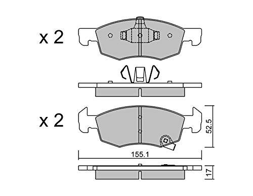 metelligroup 22-1034-0 Bremsbeläge, Made in Italy, Ersatzteile für Autos, ECE R90-zertifiziert, Kupferfrei