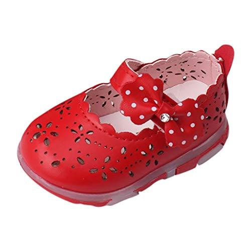 HDUFGJ Unisex Kinder Sommer Sandalen Clogs Strandschuhe Trekking Sandalette 21 EU(Rot)