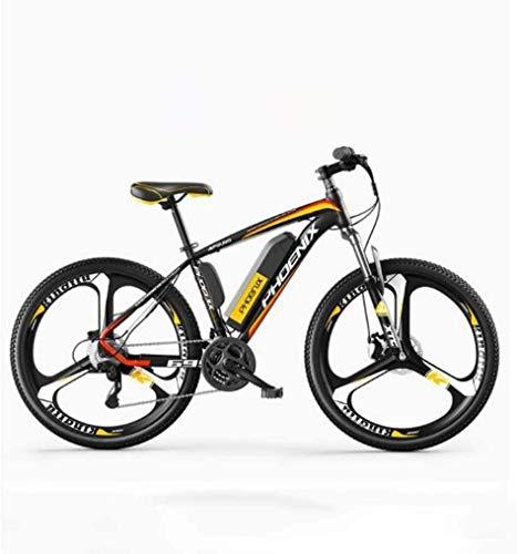 MU Bicicleta eléctrica de 26 pulgadas para adultos, All Terrain, 27 velocidades, 36 V, 50 km de distancia de Miglia Pure batería extraíble de iones de litio, D2 eléctrica 35 km / 70 km híbrido