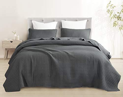 Attitude Bedspread (Full/Queen, Charcoal Grey)