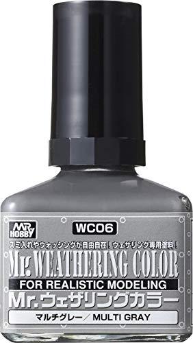 GSIクレオス Mr.ウェザリングカラー マルチグレー 40ml 模型用塗料 WC06