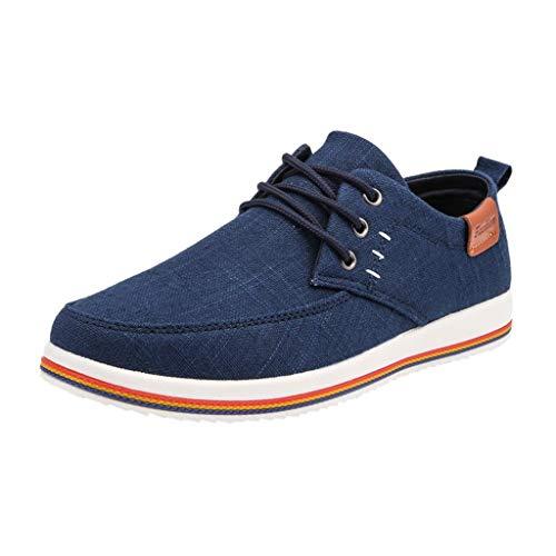 ZODOF Zapatillas de Deporte de Hombre Al Aire Libre Lona Casual Zapatos Cómodo Zapatos de Verano para Hombre Zapatos de los Hombres de Moda(Azul)