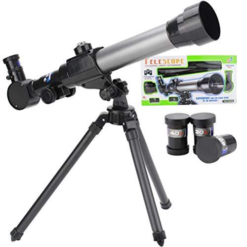 CLFYOU Teleskope für Kinder Anfänger 60mm HD Refraktor Teleskop Astronomie Starter Scope mit Stativ