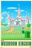 インテリアポスター・プリント- キノコ王国マリオブラザーズビデオゲームゲームをご覧ください アートキャンバス絵画 インテリアパネル インテリア絵画 新築飾り 贈り物 サイズ(40x50cm)