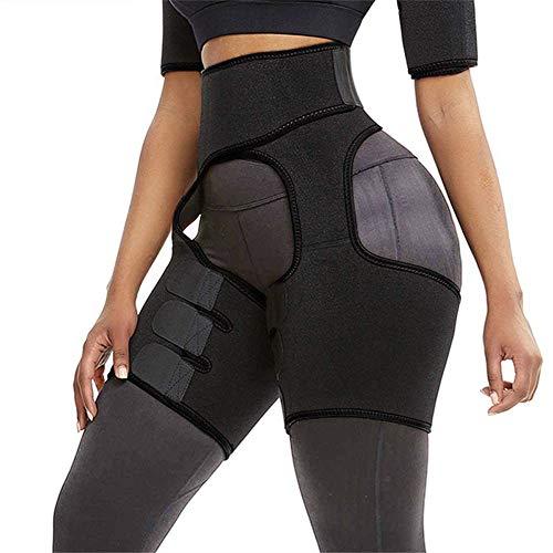 Harkkey 3-in-1 Waist and Thigh Trimmer, Waist Trainer Belt for Women Body Shaper Weight Loss Butt Lifter Waist Trainer Slimming Support Belt Hip Raise Shapewear Adjustable & Unisex (Black, M)
