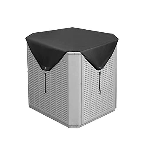 Cubiertas De Aire Acondicionado Para Unidades Exteriores, Cubierta De CA Para La Parte Superior De La Unidad Central Exterior, Resistente Al Agua (91 * 91cm,Black)