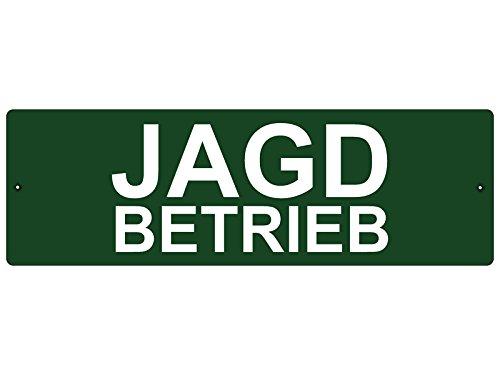 KUNSTSTOFFSCHILD mit Saugnapf Autoschild JAGDBETRIEB Innenraum Auto Wagen
