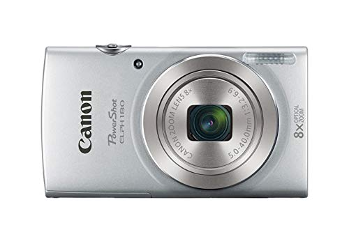 Canon PowerShot ELPH 180 Digital Camera (Silver) +...
