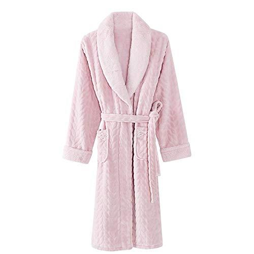Tokyia Camisón de franela para mujer, talla grande, cálido, para spa, camisón de felpa, kimono, ropa para el hogar, XXXL (talla XXXL)