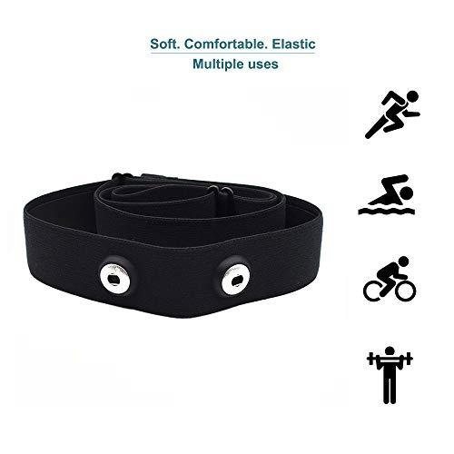 SHANREN Brustgurt Soft Strap, Verstellbarer Pulsmesser-Brustgurtersat, kompatibelfür Polar H7, Wahoo Herzfrequenzmesser