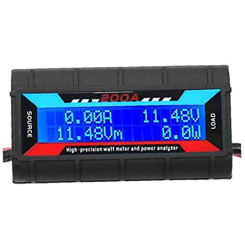 Odoukey Analizador de Potencia 200a vatios medidor de Potencia de Alta precisión para Tensión Corriente Potencia de Carga y medición de energía con Pantalla LCD Digital