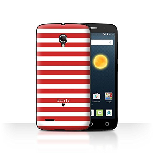 Stuff4Phone Case/Cover/Skin/alcpop25/Custom Stripes/Striped Collection Coeur Rayé Rouge