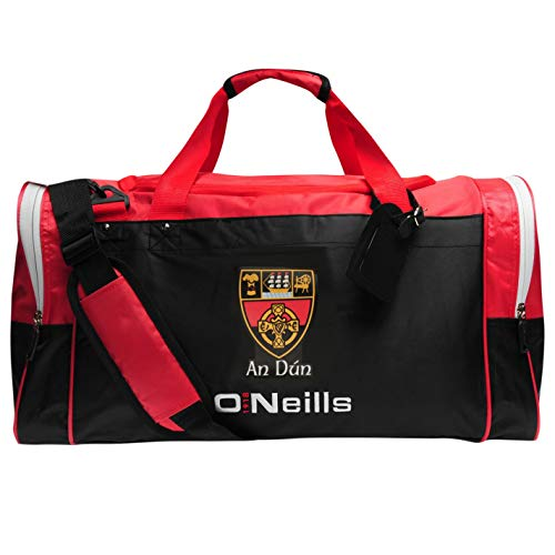 O'Neills Unisex Down GAA Holdall Adjustable Shoulder Strap Black/Red/White One Size