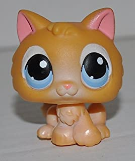 Kitten #47 (Blue Eyes, White Eye Brows) - Littlest Pet Shop (Retired) Collector Toy - LPS Collectible Replacement Single Figure - Loose (OOP Out of Package & Print)