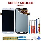 SWARK Super AMOLED Display Compatibile con Samsung I9500 Galaxy S4 (Bianco Senza Telaio) LCD Display Touchscreen + Tools