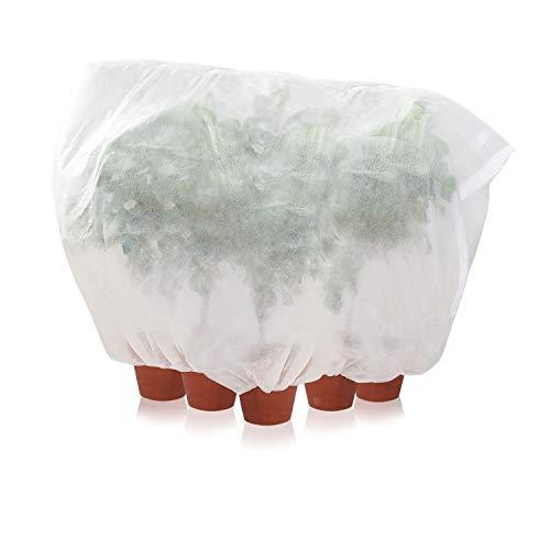 Amazy Schutzhülle für Pflanzen (XXL) – Der praktische Kübelpflanzensack aus Vlies schützt empfindliche Topfpflanzen vor Frost, Wind und Niederschlag (360 x 250 cm)