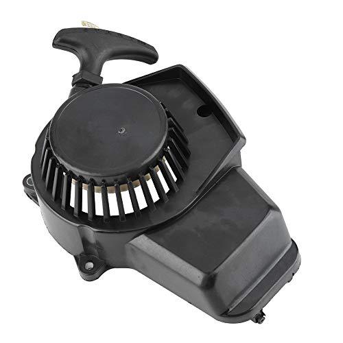 Terisass Recoil Arranque de arranque de arranque Arranque de arranque de arranque Accesorios de encendido Adaptador de repuesto para motos de tierra y mini quads 2 tiempos 47-49cc Mini motores(Negro)