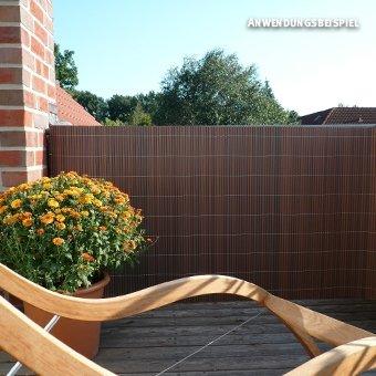 Videx-Sichtschutzmatte Rügen, Kunststoff nussbaum, 90 x 200cm