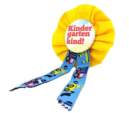 AnneSvea Orden Kindergarten Kind gelb Bagger Einschulung Schultüte Zuckertüte Deko Geschenk Mitbringsel KIndergartenkind