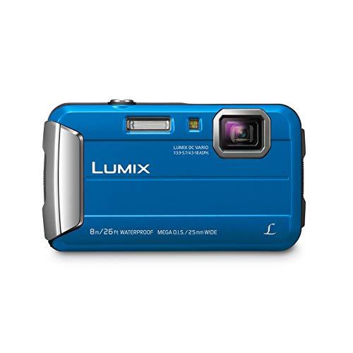 Panasonic Lumix DMC-FT30 - Cámara Acuática Sumergible de 16.1 MP (8 metros, F3.9 - 5.7, Zoom de 9x, Resistencia a Golpes y Polvo), Color Azul